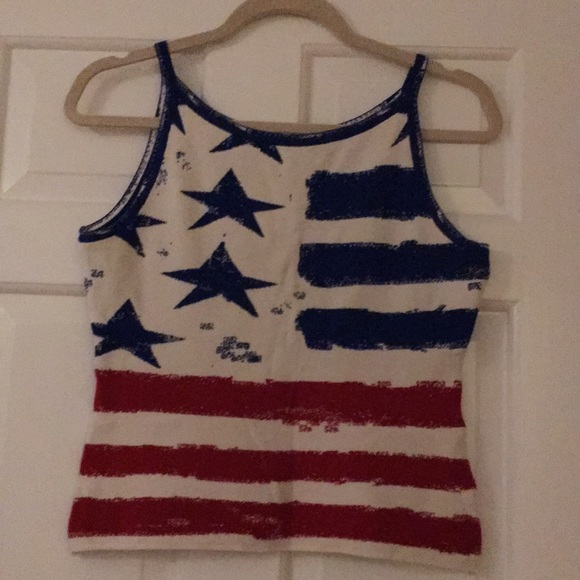 Angelica-Val Tops - Angelica Val American Flag Top